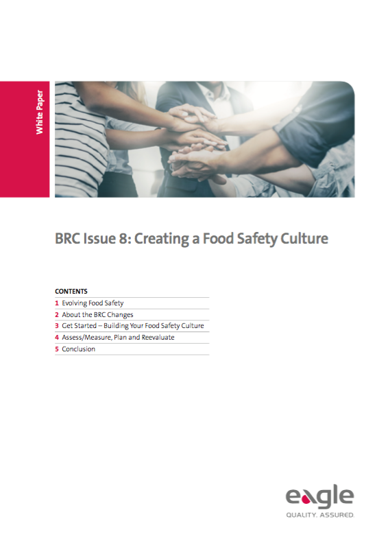 BRCGS Issue 8: Creating a Food Safety Culture