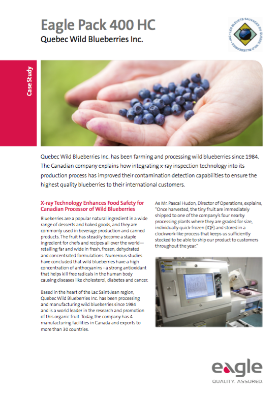 Quebec Wild Blueberries: X-Ray Inspection Enhances Food Safety for Wild Blueberry Processor