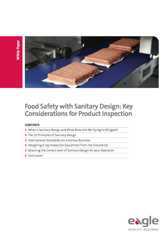 Food Safety with Sanitary Design – Key Considerations for Product Inspection Equipment